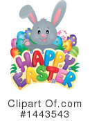 Royalty-Free (RF) Easter Bunny Clipart Illustration #1443543