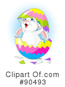Royalty-Free (RF) Easter Bunny Clipart Illustration #90493