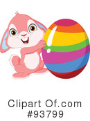 Royalty-Free (RF) Easter Bunny Clipart Illustration #93799