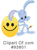 Royalty-Free (RF) Easter Bunny Clipart Illustration #93801