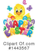 Royalty-Free (RF) Easter Chick Clipart Illustration #1443567