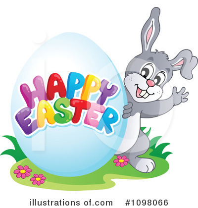 Easter Bunny Clipart #1098066 by visekart