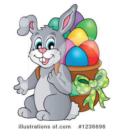 Easter Bunny Clipart #1236696 by visekart
