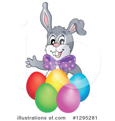 Easter Bunny Clipart #1295281 by visekart