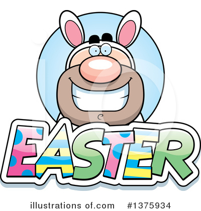 Easter Bunny Clipart #1375934 by Cory Thoman