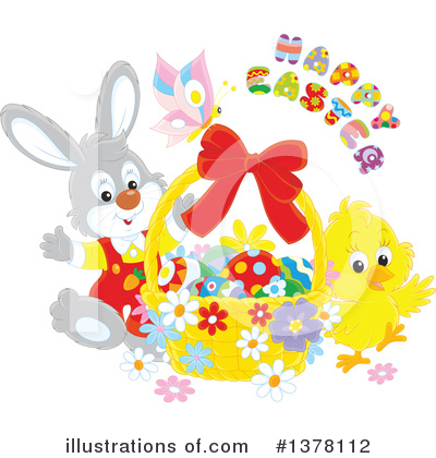 Rabbit Clipart #1378112 by Alex Bannykh