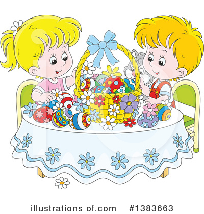 Easter Basket Clipart #1383663 by Alex Bannykh