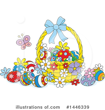 Easter Eggs Clipart #1446339 by Alex Bannykh