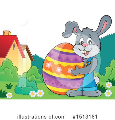 Easter Bunny Clipart #1513161 by visekart