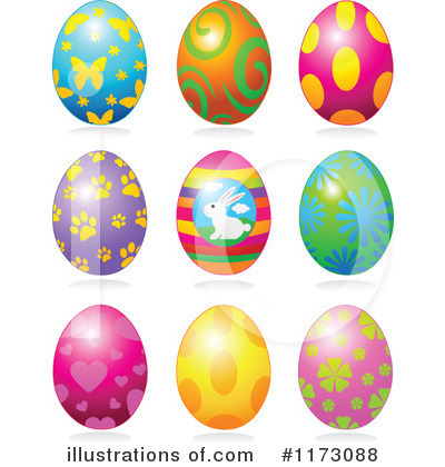 Easter Egg Clipart #1173088 - Illustration by Pushkin