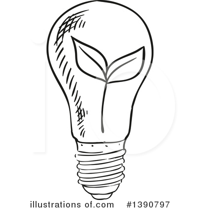 Light Bulb Clipart #1390797 by Vector Tradition SM