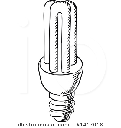 Light Bulb Clipart #1417018 by Vector Tradition SM
