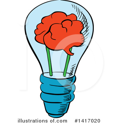 Light Bulb Clipart #1417020 by Vector Tradition SM