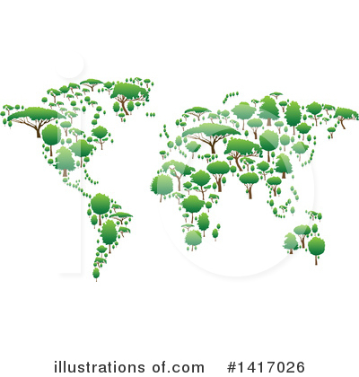 Map Clipart #1417026 by Vector Tradition SM