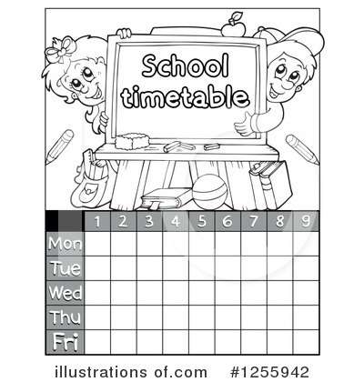 School Timetable Clipart #1255942 by visekart