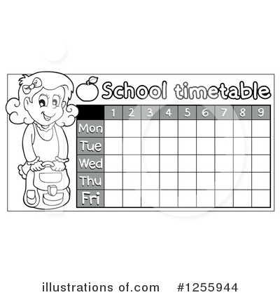 School Timetable Clipart #1255944 by visekart