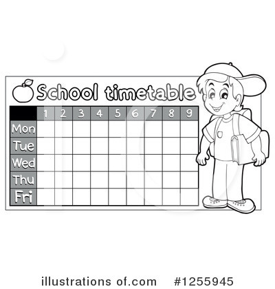 School Timetable Clipart #1255945 by visekart