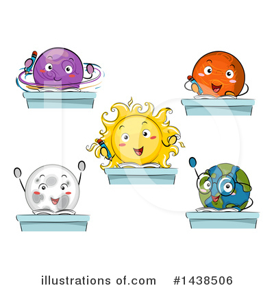 Solar System Clipart #1438506 by BNP Design Studio