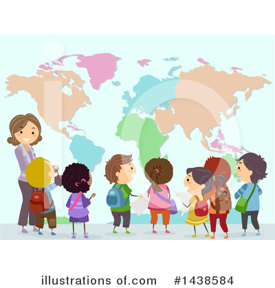 Map Clipart #1438584 by BNP Design Studio