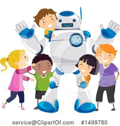 Robot Clipart #1499780 by BNP Design Studio