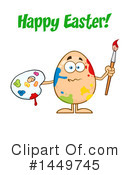 Egg Mascot Clipart #1449745 by Hit Toon