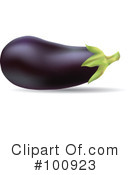 Royalty-Free (RF) Eggplant Clipart Illustration #100923