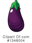 Eggplant Clipart #1348004 by Vector Tradition SM