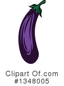 Eggplant Clipart #1348005 by Vector Tradition SM