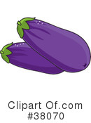 Royalty-Free (RF) Eggplant Clipart Illustration #38070