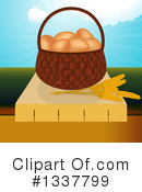 Royalty-Free (RF) Eggs Clipart Illustration #1337799
