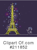 Royalty-Free (RF) Eiffel Tower Clipart Illustration #211852