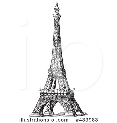 Eiffel Tower Cartoon Picture on Royalty Free Eiffel Tower Clipart Illustration 433983 Jpg