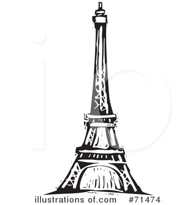 black and white eiffel tower clip art