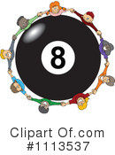 Royalty-Free (RF) Eight Ball Clipart Illustration #1113537