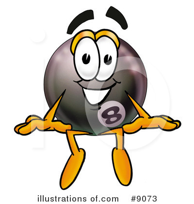 Eight Ball Clipart #9073 by Toons4Biz