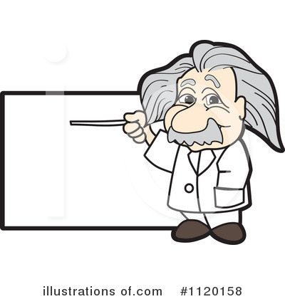 Royalty-Free (RF) Einstein Clipart Illustration by Toons4Biz - Stock Sample #1120158