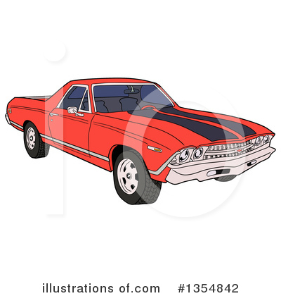 Muscle Car Clipart #1354842 by LaffToon
