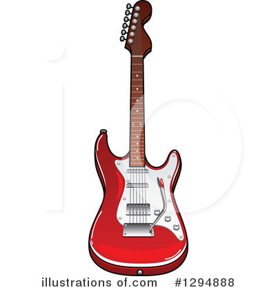 Guitar Clipart #1294888 by Vector Tradition SM