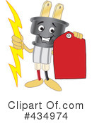 Electric Plug Character Clipart #434974 by Toons4Biz