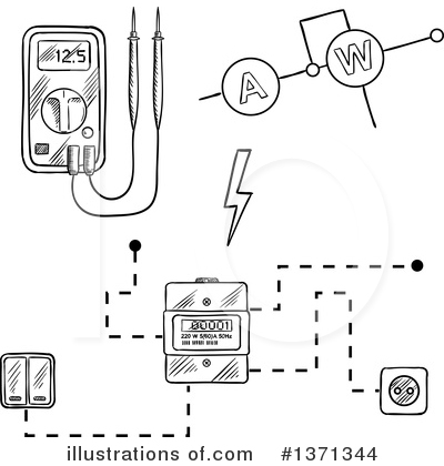 Electrician Clipart #1371344 by Vector Tradition SM