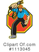 Royalty-Free (RF) electrician Clipart Illustration #1113045
