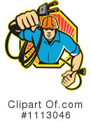 Royalty-Free (RF) electrician Clipart Illustration #1113046