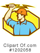 Electrician Clipart #1202058 by patrimonio
