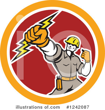 Electrician Clipart #1242087 by patrimonio