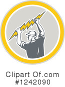 Electrician Clipart #1242090 by patrimonio