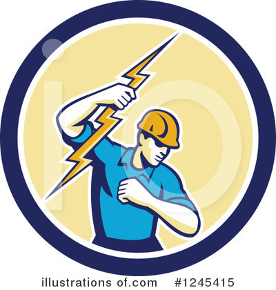 Electrician Clipart #1245415 by patrimonio