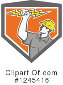 Electrician Clipart #1245416 by patrimonio