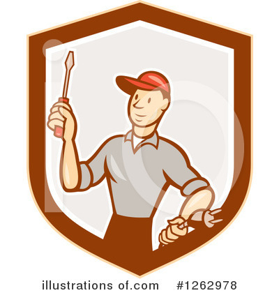 Electrician Clipart #1262978 by patrimonio
