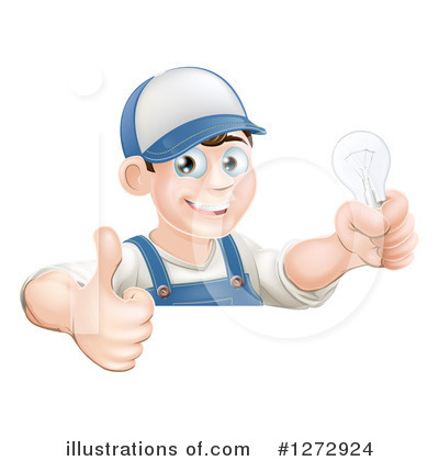 Light Bulb Clipart #1272924 by AtStockIllustration