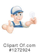 Royalty-Free (RF) Electrician Clipart Illustration #1272924